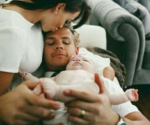 baby, dad, and mom image