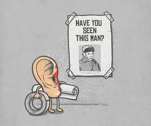 van gogh, ear, and funny image