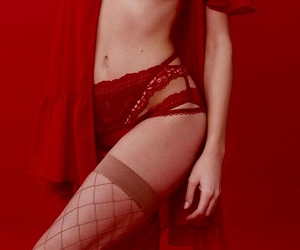 garter, lace, and sensual image