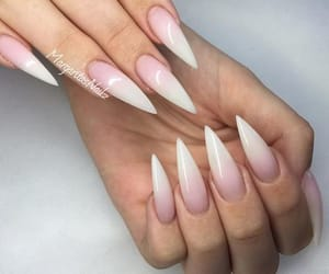 nails, girl, and stiletto image
