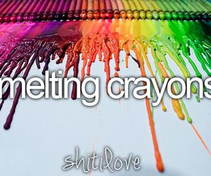 melting crayons and shit i love image