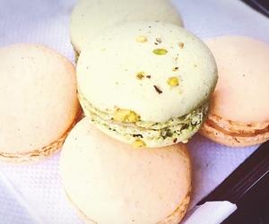 cake, macaroons, and pastel image