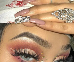 nails, beauty, and girl image