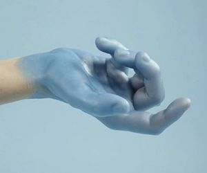 blue, aestethic, and hand image