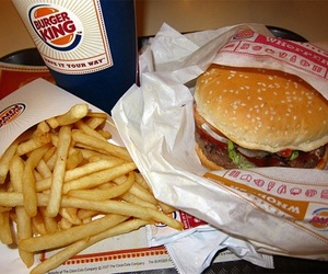 food, burger king, and burger image