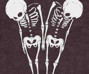 skeleton, skull, and grunge image