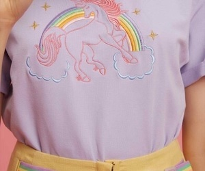 unicorns and rainbow image