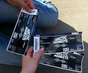 arctic monkeys and tickets image
