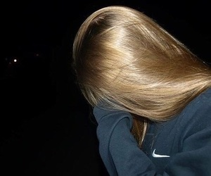 girl, hair, and nike image
