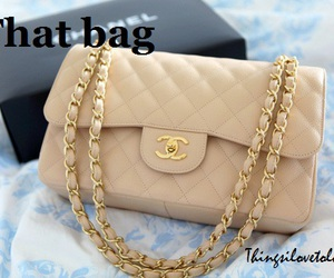 bag, beige, and chains image