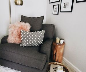 home, decor, and pillows image