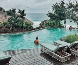 girl, paradise, and beach image