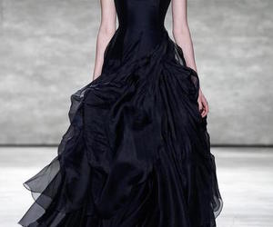 dress, black dress, and gown image
