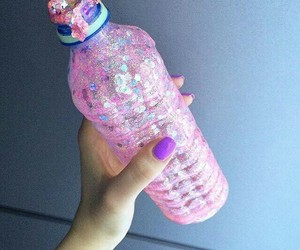 bottle, indie, and pink image