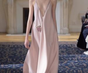 designer, pink, and dress image
