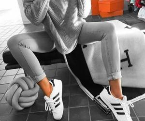 fashion, adidas, and grey image