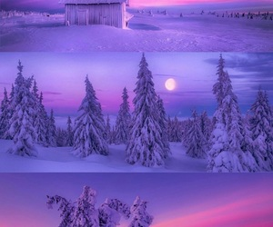colors, moon, and world image