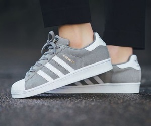 adidas, superstar, and grey image