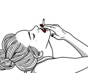 smoke, outline, and art image