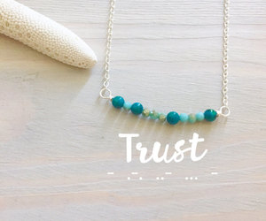 etsy, turquoise necklace, and name necklace image