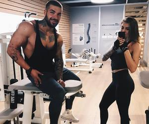 couple, fit, and friends image