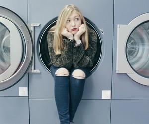 blonde, washing machine, and tumblr image