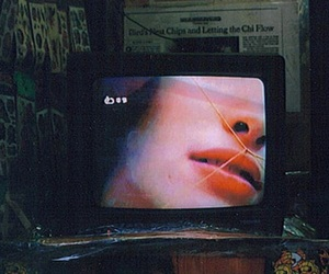 grunge, tv, and lips image