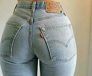 jeans, body, and outfit image