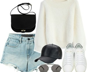 bag, hat, and outfit image