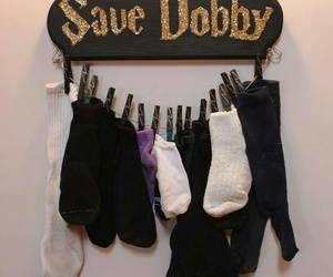 harry potter, dobby, and socks image