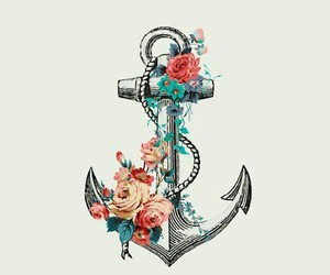 anchor and flowers image