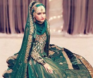 bride, south asian, and hijab image