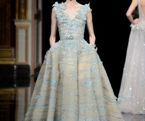 catwalk, haute couture, and dress image