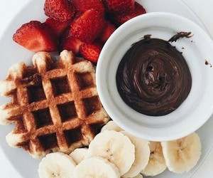 chocolate, food, and banana image