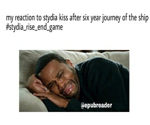 teen wolf, stydia kiss, and stydia end game image