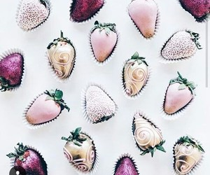 strawberry, pink, and sweet image