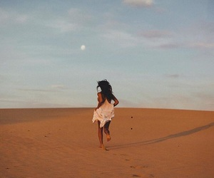 desert, girl, and photography image