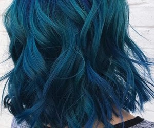 beauty, blue hair, and dye image