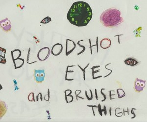aesthetic, blood, and crayons image