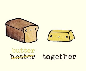 bread, butter, and wallpaper image