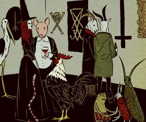 witch and satan image