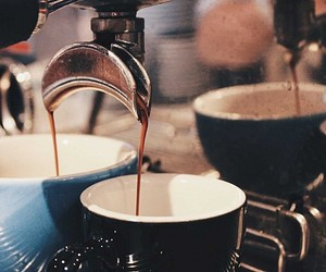 blue, coffee lovers, and coffee addict image