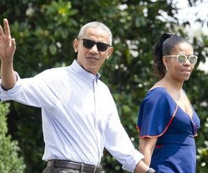 Barak Obama, cool, and blue dress image
