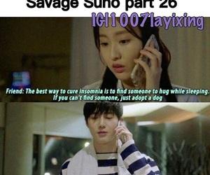 exo, junmyeon, and exo funny image