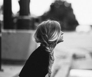 blonde, blonde hair, and braid image