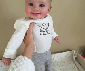 baby, parents, and smile image