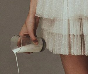 girl, aesthetic, and milk image