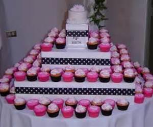 wedding cupcakes, cupcake wedding cake, and milkshake wedding image