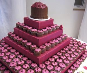 cake, cupcake, and chocolate image