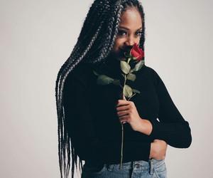 braids, flowers, and melanin image